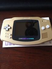 Nintendo Game Boy Advance GBA Gold System AGS 101 Backlit Mod