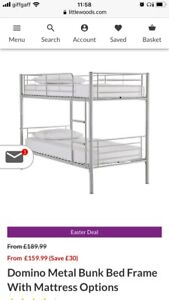 Great condition white bunk beds