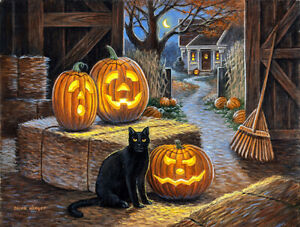 CAT O LANTERN by Brian Winget - SunsOut 500 piece HALLOWEEN puzzle  - NEW