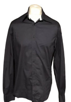 FILA Men's Blue Casual Shirt Large Cotton Blend Long Sleeve