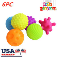 6Pcs Baby Sensory Touch Textured Baby Balls with BB Sound Bath Education Toy US