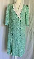 CUTE Tina Barrie Flapper Style Pleated Vintage 80s NWOT Dress Size 10 - F41