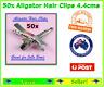 Pack of 50x Alligator Aligator Silver Hair Clips 4.4cms long Hair  For JoJo Bows