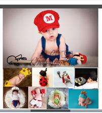 Newborn Baby Girl Boy Crochet Knit Costume Photo Photography Prop Mario Thor