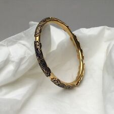 Cloisonne Enamel Gold Tone Bangle Bracelet