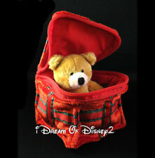 Build-A-Bear CHRISTMAS GIFT BOX with TEDDY inside! PLUSH RED VELVET ACCESSORY