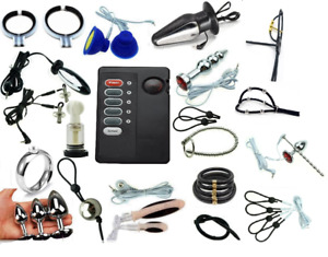 Tens electrosex  E-stim Shock Accessories Penis Ring anal plugs and Power Units