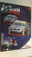 LEE HOLDSWORTH MICHAEL CARUSO RACING HOLDEN HEROES  signed Supercars Poster