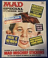 6th MAD SPECIAL MAGAZINE No. 6 Vintage Sixth Annual Edition ALL STICKERS Six