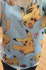 Cute Pokemon Pikachu Femme Filles Mode Débardeur T-Shirt Taille UK 6 8