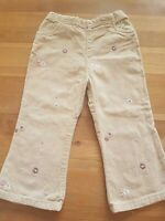 Girls Toddlers Cream Beige Flower Pattern Trousers 18-24 Months mothercare