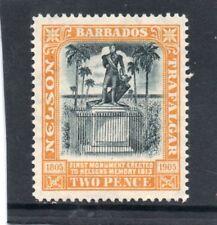 Barbados EV11 1907 Nelson 2d black&yellow sg 161 H.Mint