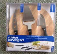 Kitchen Craft Deluxe Cheese Board Serving Set & Wooden Cheese Board in Gift Box