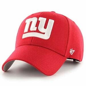 New York Giants NFL '47 MVP Basic Red White NY Hat Cap Adult Men's Adjustable
