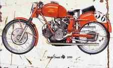 MotoGuzzi 500 1950 Aged Vintage SIGN A3 LARGE Retro
