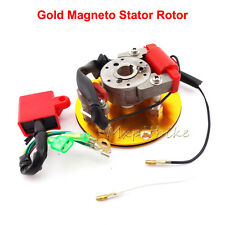 Racing Gold Magneto Stator Rotor CDI Kit For 110 125cc 140cc Lifan YX Dirt Bike