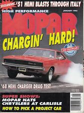 High Performance Mopar Magazine January 1993 - Design a 1968 Charger Car /l7