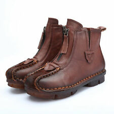Flat (0 to 1/2 in.) Leather Medium (B, M) Casual Boots for Women