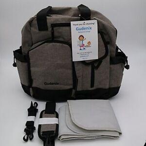 Multifunctional Gray  Diaper Bag Backpack