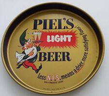 """1960's Piel's Light Beer 12"""" Metal Serving Tray"""