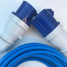 32 amp 4mm BLUE ARCTIC Extension Cable 240v Wire Hook Up Catering Truck 1m 30m