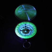 Brass Pocket Watch Style Navigation Compass Ring Keychain Outdoor Camping Hiking