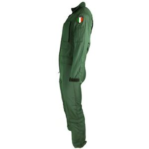 Genuine Italian army coverall flight suit military green jumpsuit aramid NEW
