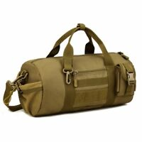 Tactical Duffle MOLLE Handbag Gear Military Travel Carry On Shoulder Bag Small V