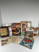 Lot of 10 VTG Recipe Cook Books Booklets Advertising for Appliances Kenmore