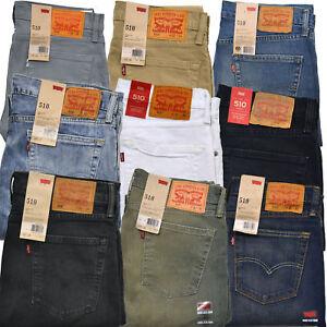 << Nuovo Inventario >> Levi's Uomo 510 Skinny Stretch Denim Jeans W28-36 L29-36