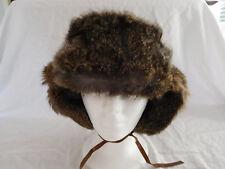 Vintage Fur Trapper Bomber Ushanka Ear Flap Hat China Japan ? Rabbit Mink Fox ?