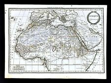 1812 Malte Brun Lapie Map North Africa Guinea Sudan Nigrite Sahara Egypt Morocco