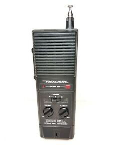 Vintage WORKING 1980's Realistic TRC-218 2 Watt 3 Channel CB Walkie Talkie