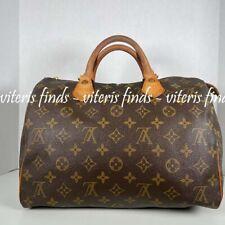 Authentic Louis Vuitton Speedy 30  Monogram Canvas Satchel Hand Bag