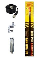NEW FIRESTIK KW2,  KW2 B 2FT BLACK CB ANTENNA, 9FT COAX, MOUNT, SPRING