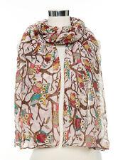 Owl On a Branch Print Ladies Fashion Maxi Scarf Wrap Sarong at Wholesale Price