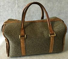 Hartmann Train Case Overnight Tweed & Leather Carry On Case