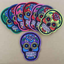 8PCS Mixed Skull Embroidered Sew Iron On Patch Badge Hat Jeans Clothes Craft DIY