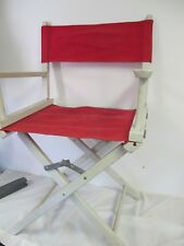 TELESCOPE DIRECTORS CHAIR GOLD MEDAL USA WOOD CANVAS