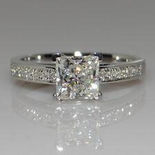 Size I-R Womens Fashion Princess Cut CZ S925 Silver Engagement Wedding Ring Gift