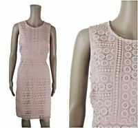ex F&F Lace Broderie Anglaise Blush Pink Occasion Dress