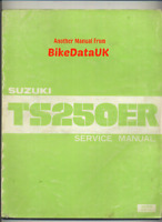 Suzuki TS250ER-X (1981 >) Genuine Factory Service & Repair Manual TS 250 ER BV20
