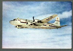 1950 SAS Scandinavian Airlines Douglas DC-6  with LOGO Postcard