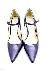 MIA Francine Stiletto Deep Purple Colored Patent Mary Jane Heels Pumps 9 M