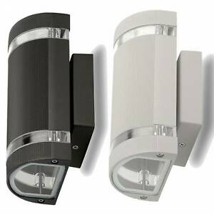 LED Wandleuchte Außen-Strahler 1-9W IP54 2x GU10 Wandlampe Garten-Lampe up down