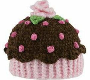 New San Diego Hat BROWN CUPCAKE Beanie Cap 6-12 months Baby Shower gift Soft