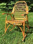 Wonderful Vintage SNOCRAFT Snow Shoe Norway Maine Rocking Chair Home Decor