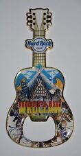 Hard Rock Cafe fridge magnet NEW,Blue/White,guitar,travel Wroclaw Poland