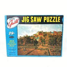 Vintage Guild Jigsaw Puzzle Pontoise Complete w/ Box Landscape France Europe