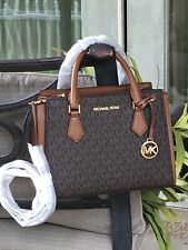 MICHAEL KORS HOPE MEDIUM MESSENGER CROSSBODY SATCHEL BAG BROWN MK SIGNATURE